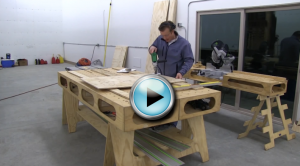 Building the Paulk Workbench PART 2 MAKING SAW HORSE PATTERN